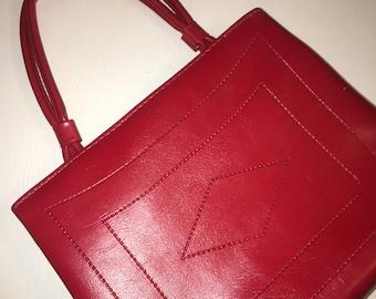 Vintage Red Pleather Handbag