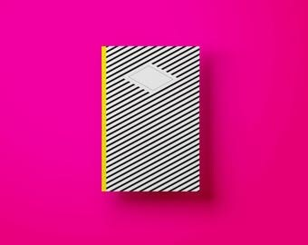 Book with striped design