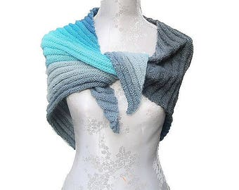 Scarf, shawl, summer, turquoise, handmade, gift, Bohemian style
