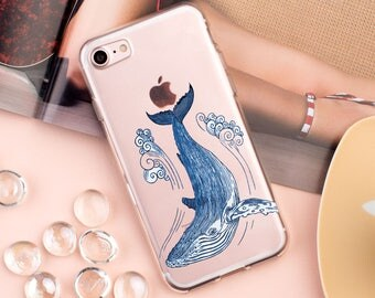 iPhone 8 Case Whale iPhone 7 Plus Case Ocean Clear Plastic Case S8 Plus Case iPhone 6S Plus iPhone 7 Case for Samsung S8 iPhone X CGD1030