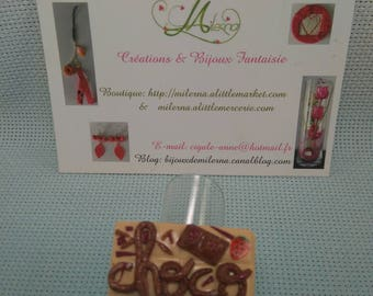 Ring in polymer clay chocolate bar