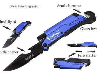 Tactical Knife Brother Gift Personalized Gift For Boyfriend Husband Christmas Gift Mens Personalized Engraved Knife Police Officer Gifts