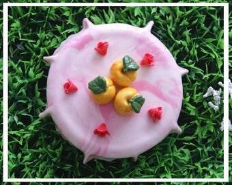 Lid jar of cold porcelain - Mirabelle
