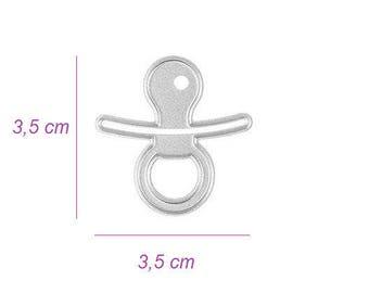 Dies die cut pacifier Binky baby pattern