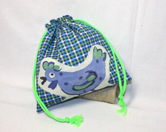 Snack bag / bag in houndstooth pattern blanket