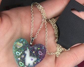 Llama  resin necklace