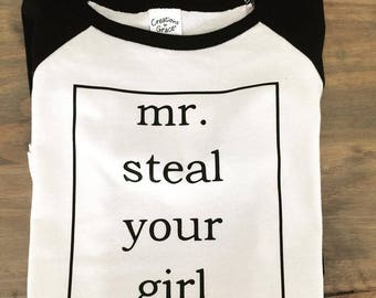 Mr. Steal Your Girl Toddler Baseball Tee