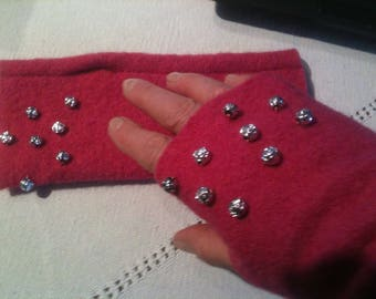 Peals boiled wool MITTENS
