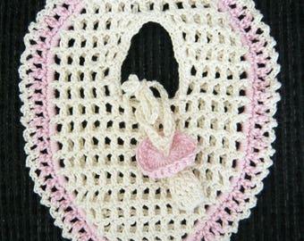 Containing sweets crochet pacifier bib