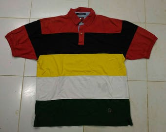 Vintage Tommy hilfiger polo colourful