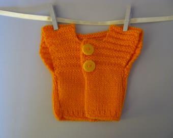 Orange Cardigan for woolen 40 cm waldorf doll
