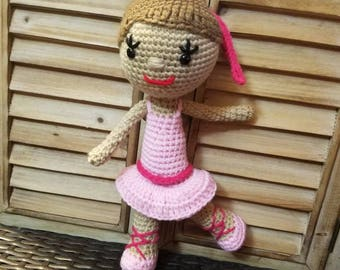 Ballerina Crocheted Doll