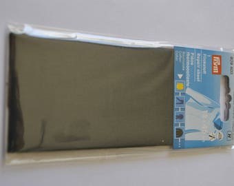 grey cotton patch piece charcoal percale for repair prym 929403