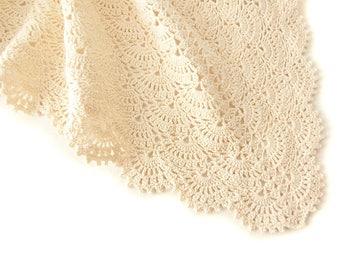 Crochet baby blanket, Organic Baby Blanket, Baby Blanket, Lace Baby Blanket, Christening Blanket, Cotton Baby Blanket, Shower Gifts