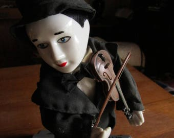 CLOWN playing the violin, AUTOMATON 27 CMS