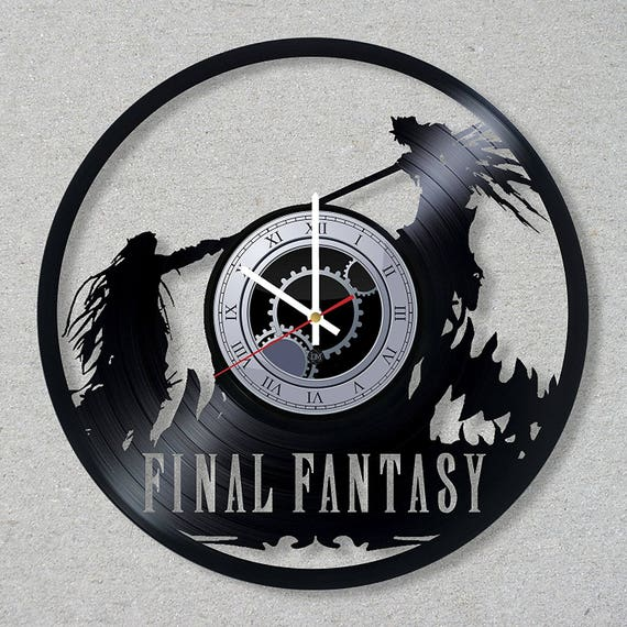 Vinyl Record Wall Clock Final Fantasy Xv Video Game Gift