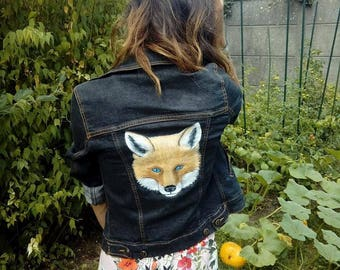 handmade painted jacket