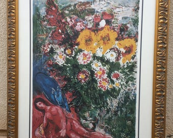"""Marc Chagall """"Les Soucis"""" Limited Edition Lithograph Pencil Numbered XVI/D"""
