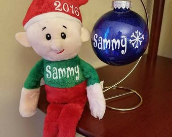 customized elf or ornament
