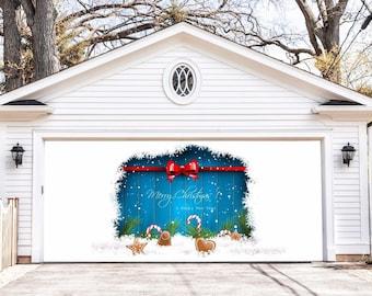best seller christmas double garage door cover christmas garage door murals outdoor decor