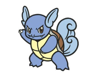Wartortle Applique Design - 4 SIZES
