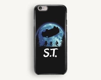 Black ST Moon Phone Case, iPhone 5S Case, iPhone 6S Plus, iPhone 7 Case, iPhone 8 Plus Case, Samsung Galaxy S8 Case, SamsungGalaxy S7