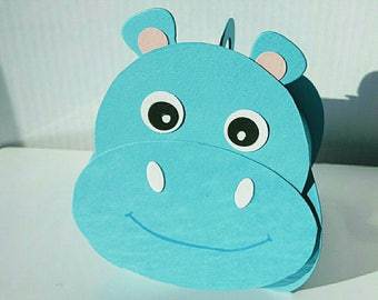 Hippo for baptism favors box