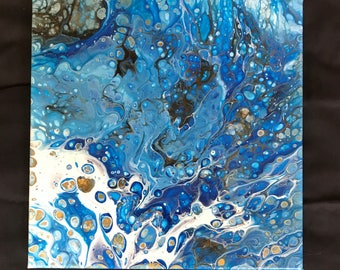 Acrylic Pour Painting #725 12x12