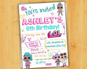 Lol surprise invite | Etsy