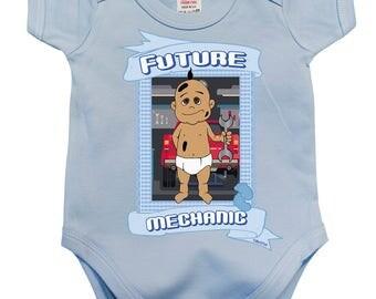 BritTot Baby Grow Future MECHANIC Baby Boys Vest
