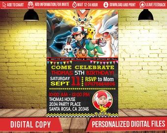 Pokemon, Pokemon Invitation, Pokemon Birthday, Pokemon Party, Pokemon Birthday Invitation, Pokemon Invite Printable, Pokemon Birthday Party