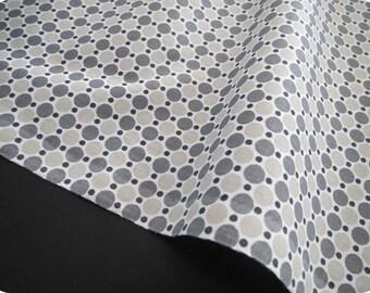 Tissu oeko tex imprimé LESPOIS noir gris