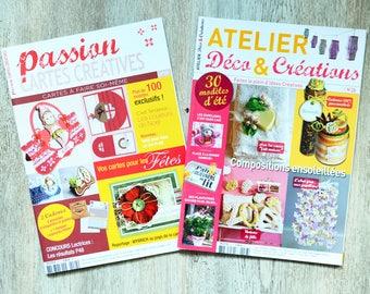 Set of two crafting magazine