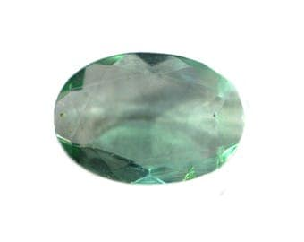 Fluorite Natural Green Fluorite Rose Cut Polki Both Side Faceted 2.05 cts 7.5x11 mm For Designer Jewelry 3905