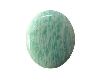 Amazonite Cabochon, Natural Inclusion At Wholesale Price big piece 36.30 cts. 25x30 mm 100% Natural Loose Gemstone - Am - 17