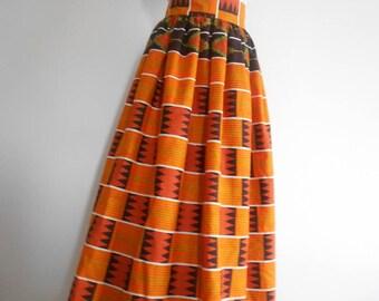 Wax (Ankara) T42/44 long skirt
