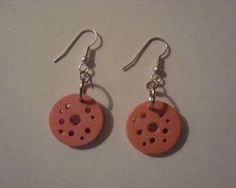 Wood Rose earrings