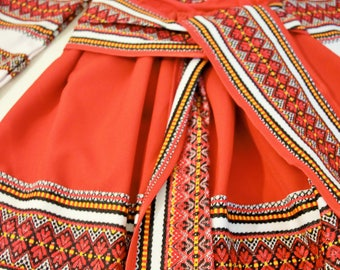 Traditional Transylvanian Costume For The Little Girl