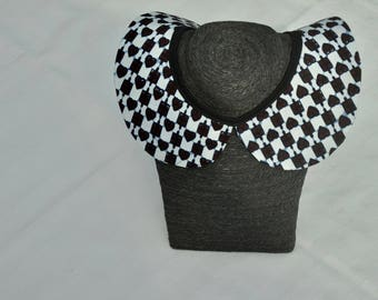 Col Claudine in African print fabric/detachable collar/accessories/gift for Hair