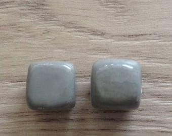 cubes are ceramic grey x 2