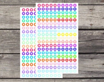 Large Asterisks Planner Stickers