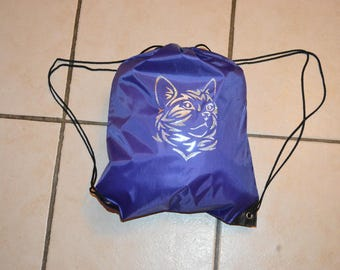 "Backpack ""piscine"" customizable Decor tribal cat"