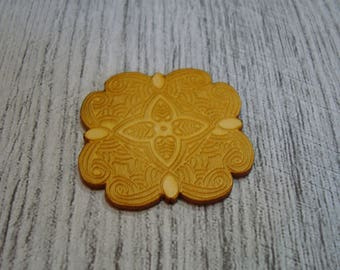 Engraved flower 1398 embellishment wooden creations