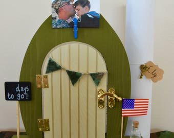 Deployment Gift Military Child Gift Soldier Homecoming Farewell Wooden Door Imagination Hand Made Unique Personalized