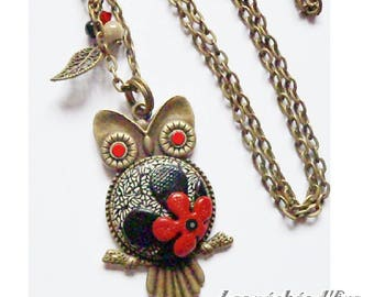 Bronze OWL retro OWL long necklace