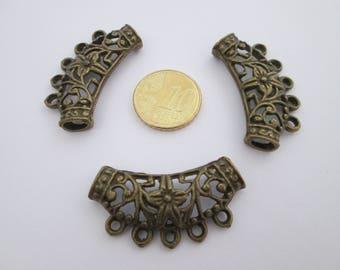 3 grande bélière en métal métal bronze 33 X 20 mm