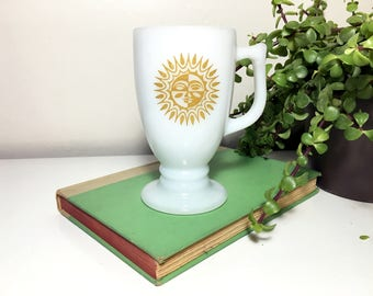 Vintage Milk Glass Sun Mug