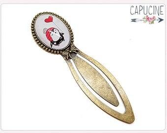 Penguin Bookmark - Penguin Bookmark bronze - Penguin Glass dome