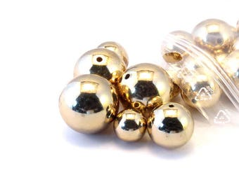 Sets gold round plastic beads