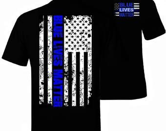 Blue Lives Matter Thin Blue Line NYPD Shirt T-Shirt Flag Apparel